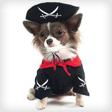 Pirate Costume with Hat for Dogs