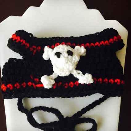 Pirate Cross Bone Dog Hat