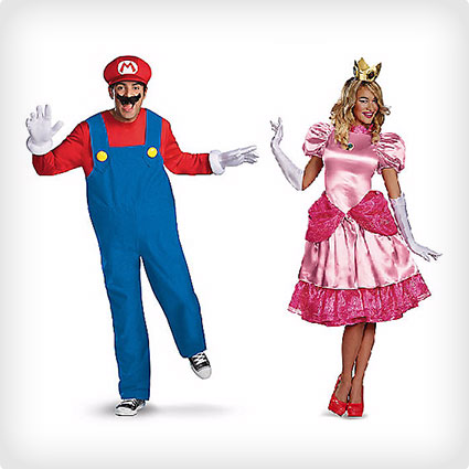 Princess Peach and Mario Costumes