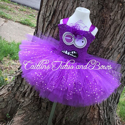 Purple Evil Minion Tutu