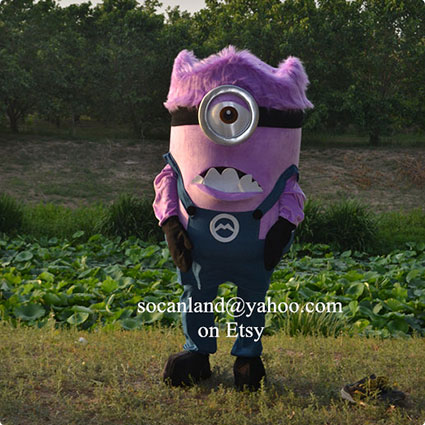 Purple Minions Mascot Costume