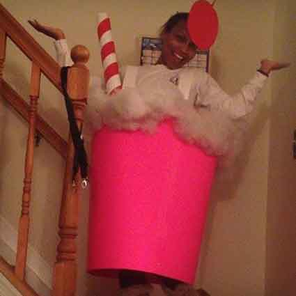Quick and Easy Milkshake Costume