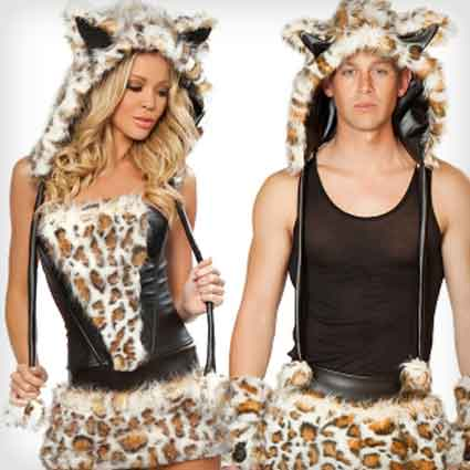 Sexy Leopards Couples Costumes
