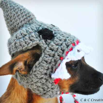 Shark Dog Hat