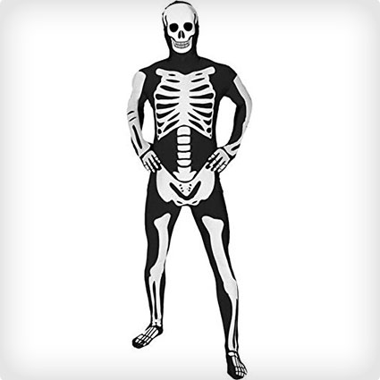 Skeleton Morphsuit Costume
