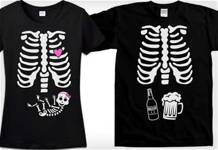 Skeleton T-Shirt Couples Costumes