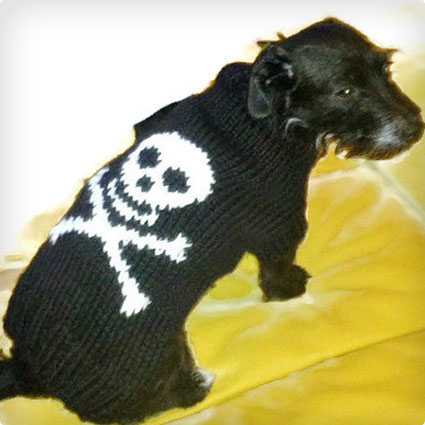 Skull and Bones Dog Sweater
