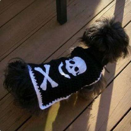 Skull and Bones Pirate Sweater