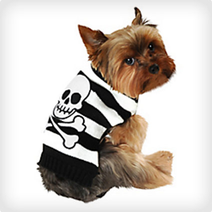 Skull and Crossbones Dog Sweater