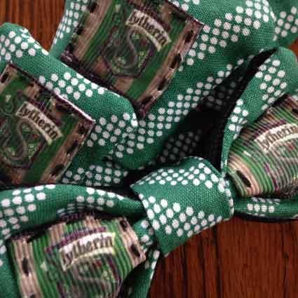 Slytherin House Crest Dog Necktie