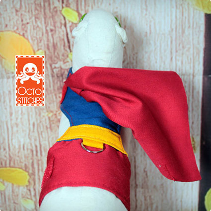 Small Pet Superman Harness Costume