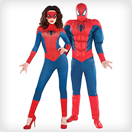 Spidergirl and Spiderman Costumes