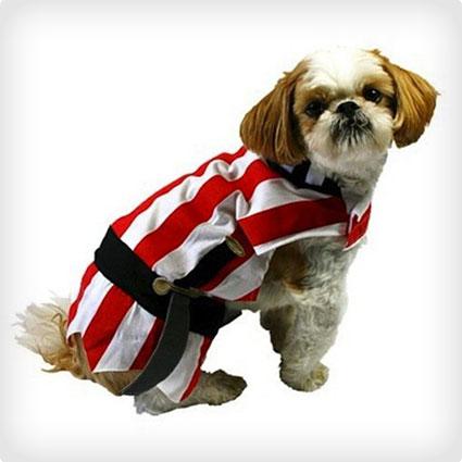 Striped Pirate Dog Costume