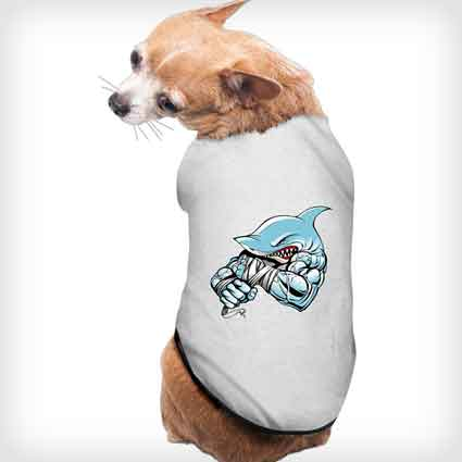 Strong Shark Doggie Shirt