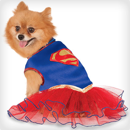 Supergirl Pet Tutu Dress