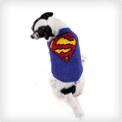 Superman Dog Crochet Costume