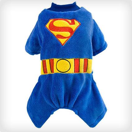Superman Dog Hoodie Costume