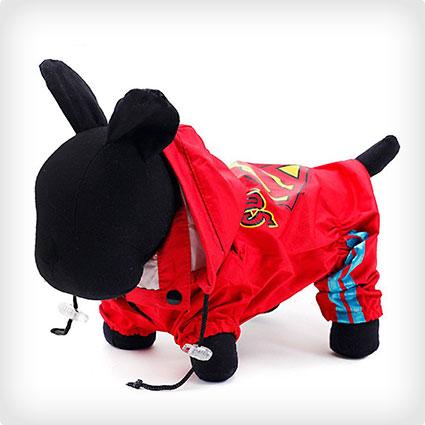 Superman Dog Raincoat Hoodie
