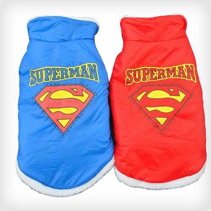 Superman Windproof Dog Coat