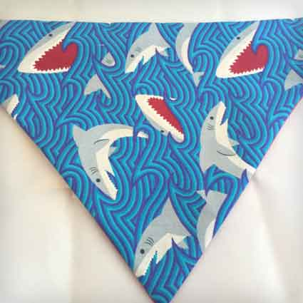Swirl Shark Slip on Dog Bandana