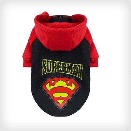 Windproof Superman Dog Costume