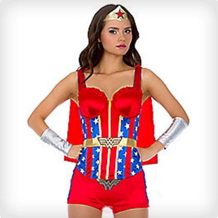 Wonder Woman Corset with Cape- DC Comics