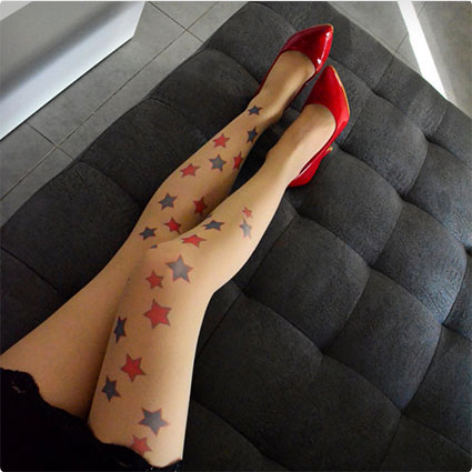 Wonder Woman Inspired Stars Tights