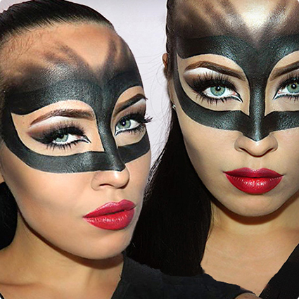 Catwoman Mask Makeup Look