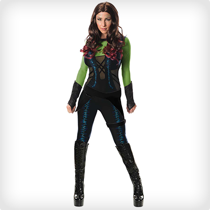 Gardian of the Galaxy Gamora Costume