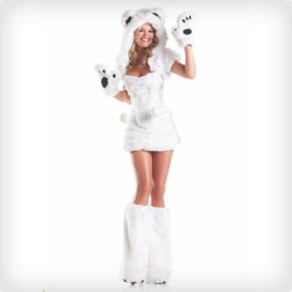 Hot Polar Bear Costume