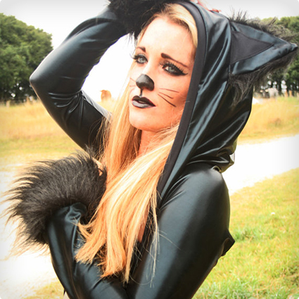 Lycra Cat Hoody