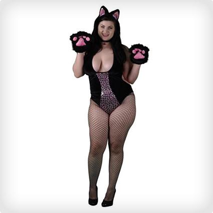 Plus Size Feisty Cat Costume