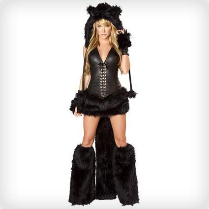 Plus Size Sexy Black Cat Costume