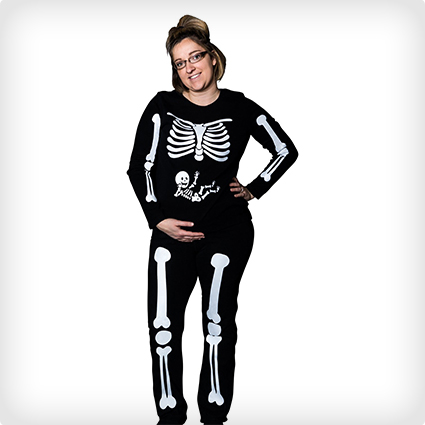 Pregnant Skeleton Iron On Decals