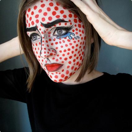 Roy Lichtenstein Make Up Tutorial