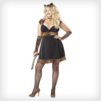 Sexy Plus Size Cat Dress Costume