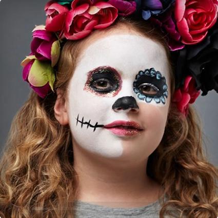 Simple Sugar Skull Make Up