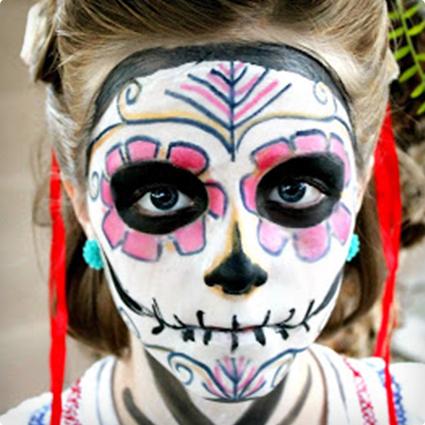Sugar Skull Halloween Make Up Tutorial