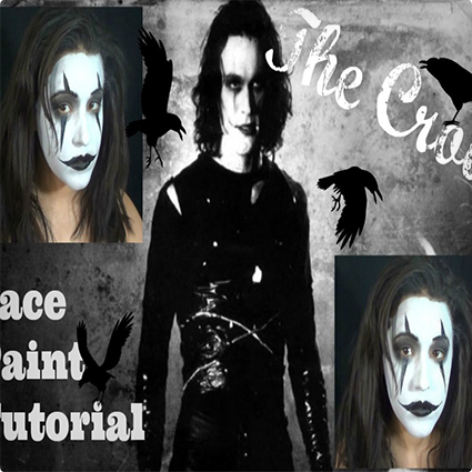 The Crow Face Paint Tutorial Costume Yeti