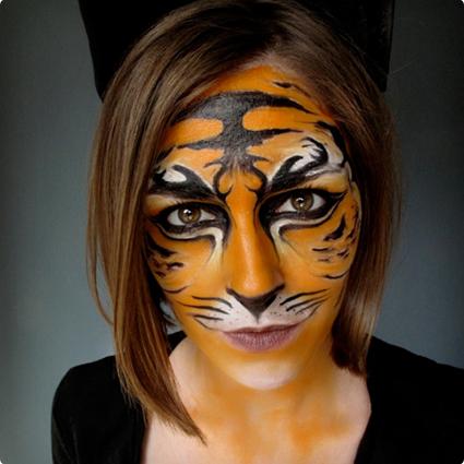 Tiger Halloween Make Up Tutorial