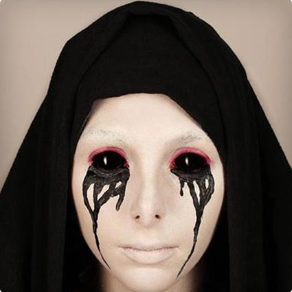 Weeping Nun Make Up Tutorial