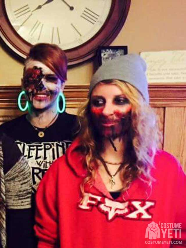 I also painted everyone elseu0027s faces for Halloween last year in these pictures! Hope you like them ?  sc 1 st  Costume Yeti & Zombie Family Costumes | Costume Yeti