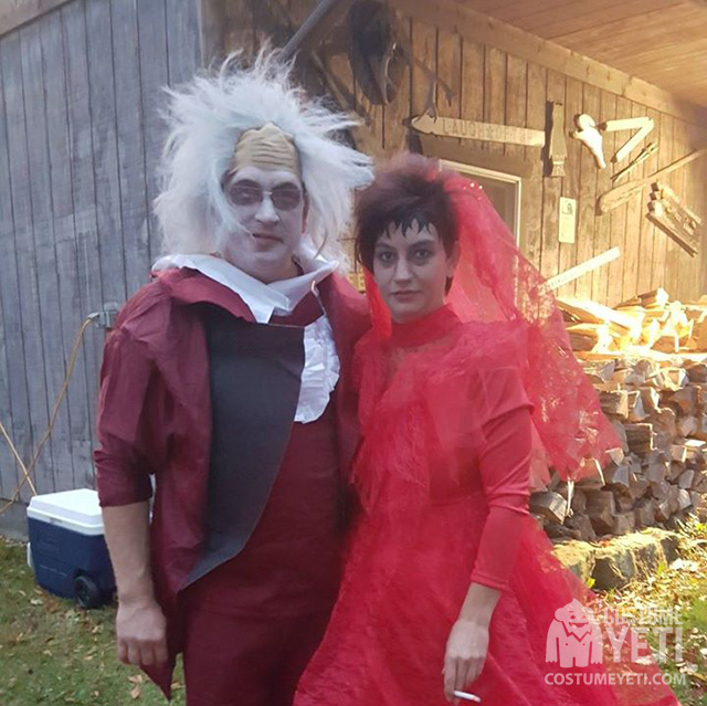 Beetlejuice And Lydia Couples Costume Costume Yeti