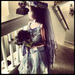 DIY Kids Corpse Bride Halloween Costume