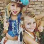 Cowgirl and Indian Girls Costumes