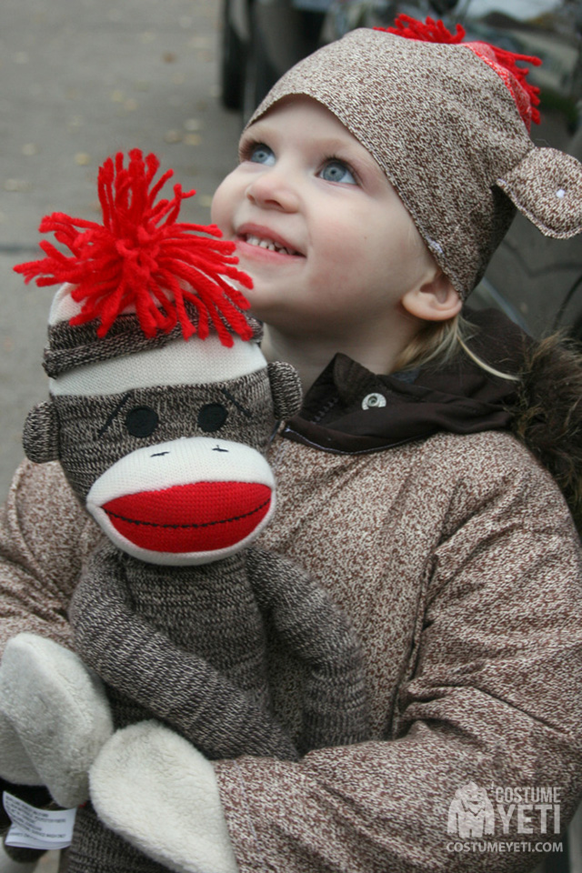 DIY Sock Monkey Kids Costume