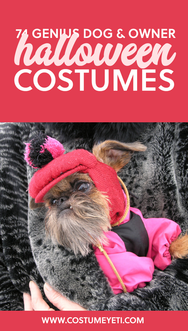 Haha. Love this! So many great ideas for dog and owner costumes.