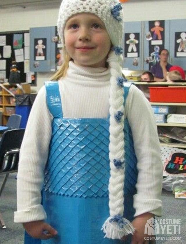 Duct Tape Frozen Queen Elsa Costume