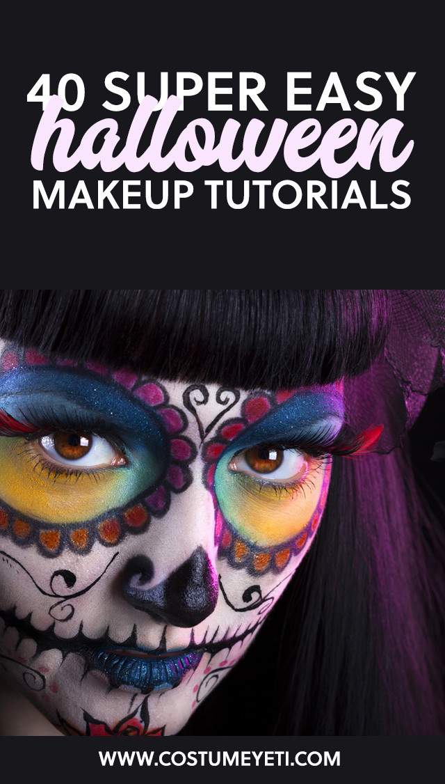 These are some super helpful (and easy) Halloween makeup tutorials!