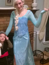 elsas ice gown